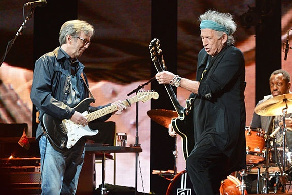 Keith Richards And Eric Clapton Played Live At Madison Square Garden The Stones