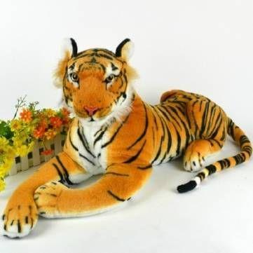 juguetes animales tigre artificial muñeco de peluche niños de tela de peluche de simulación