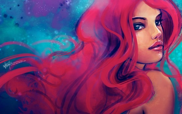 Day 10 - Best Hair?  I always though Ariel had such great hair...especially how it flowed underwater!  And I'm a fan of redheads
