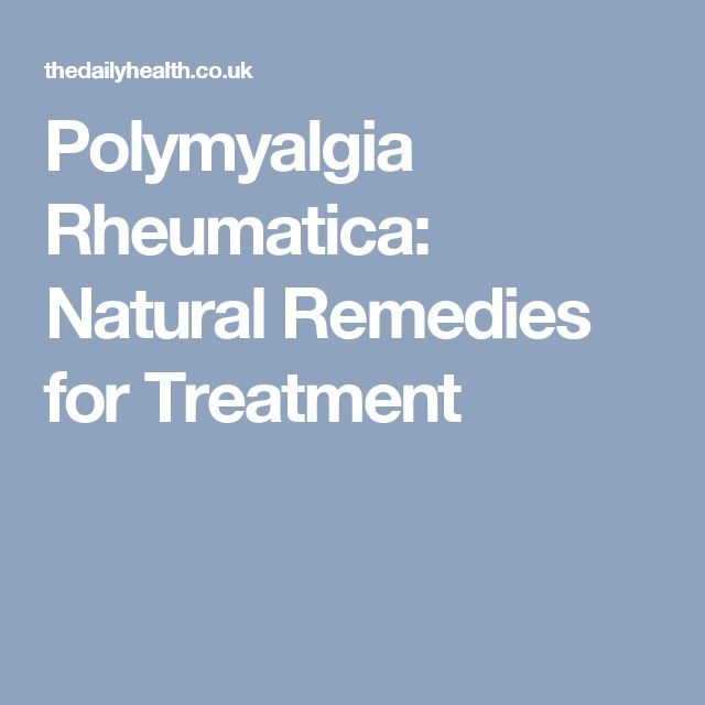 Polymyalgia Rheumatica: Natural Remedies for Treatment
