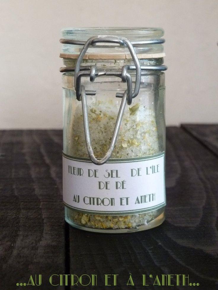 Fleur de sel au citron et aneth