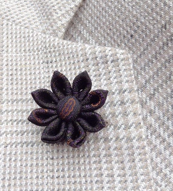 Custom Lapel Pins Mens Lapel Pin Flower Lapel Pin Daisy Gray