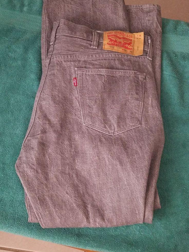Levi Strauss Jean White Oak Denim 501 Straight W38 L30   Clothing, Shoes & Accessories, Men's Clothing, Jeans   eBay!