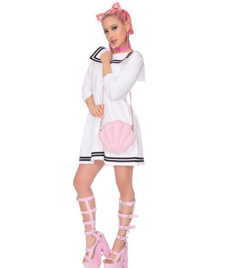 White Sailor dress by  @maryjanenite
