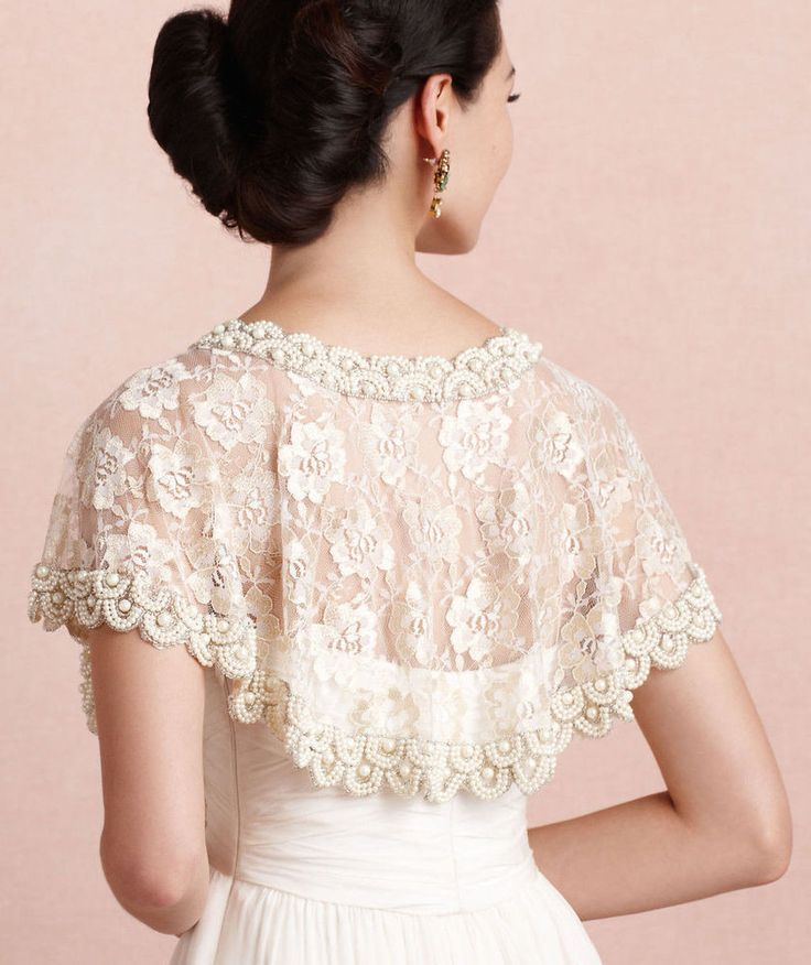 BHLDN by Anthropologie 'first light caplet' modern vintage-style wedding shrug