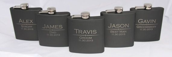 Personalized Engraved Hip Flask, Groomsmen Gift, Custom Flask, Wedding Favor, Monogram Flask, Groomsman Gift, Best Man, Groomsmen Flask