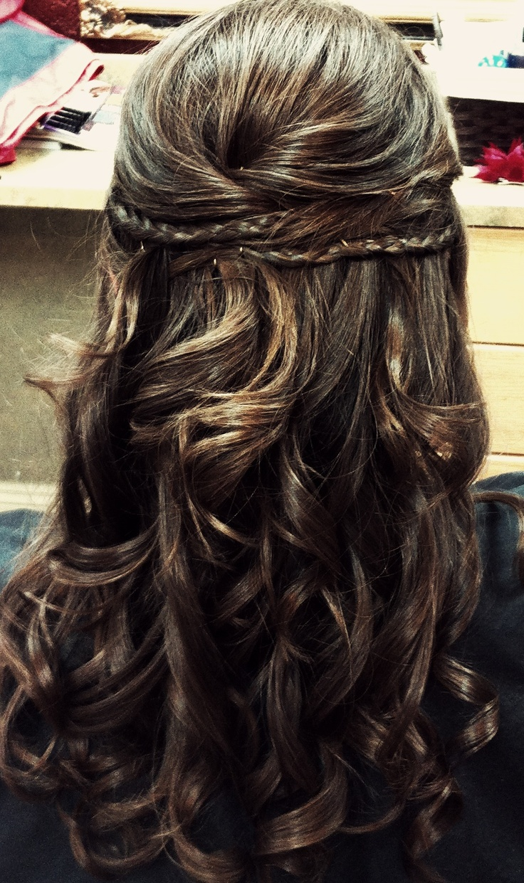 Surprising Braided Half Updo Half Updo And Updo On Pinterest Hairstyle Inspiration Daily Dogsangcom