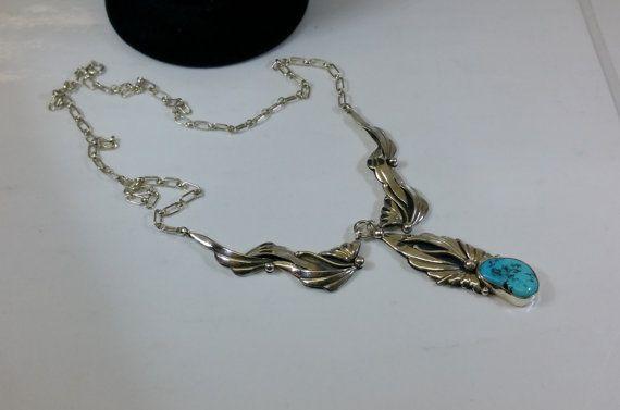 Halskette Indianer Türkis USA Silber 925 rar SK562 von Schmuckbaron