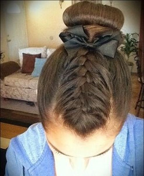 Stupendous 1000 Ideas About Gymnastics Hairstyles On Pinterest Gymnastics Short Hairstyles For Black Women Fulllsitofus