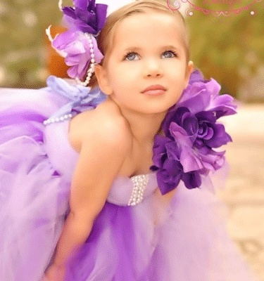 Lavender, Deep Purple Tutu Dress ~ I just like the pic! I think this girl was on toddlers and tiaras