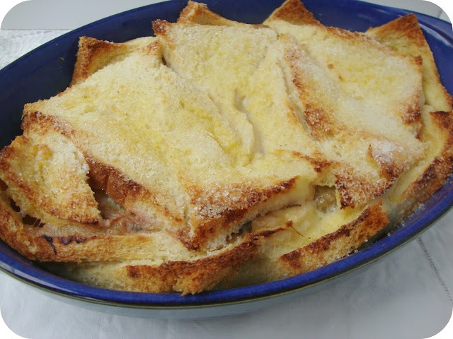Rhubarb bread and butter pudding recipe | Recipes | Pinterest