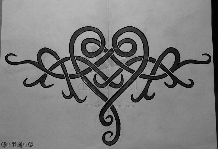 celtic heart tattoo