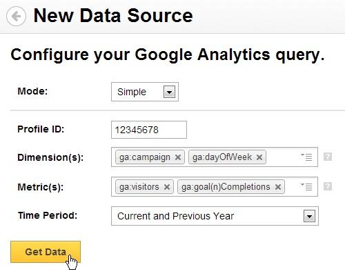Google Analytics Data Connector