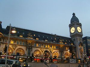 Gare de Lyon train station, Paris. Look out for the nude statues representing electricity, mechanics, steam, and navigation.