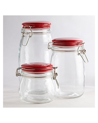 10 Ways To Organize and Declutter Like a Pro. Glass CanistersRed Kitchen  CanistersTool StorageStorage ...
