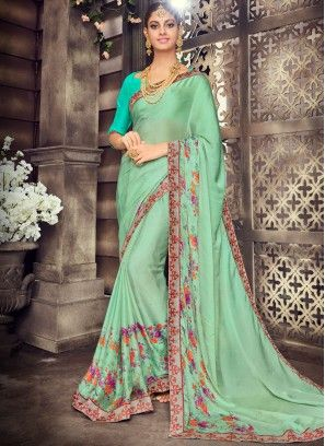 a6627daf1 Mystic Art Silk Printed Saree Shop online at your ease and pick Indian  casual sarees of your choice. It is no more an attire