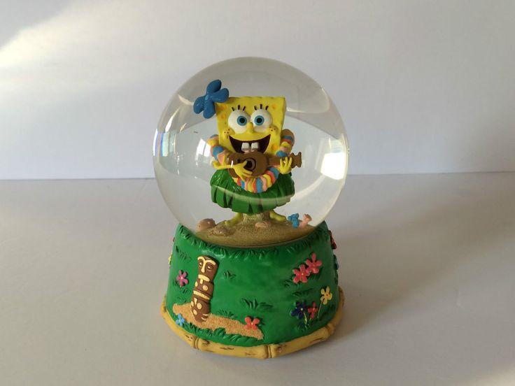 Spongebob Snowglobe Hawaiian Collectible Musical Globe Plays  Spongebob Theme