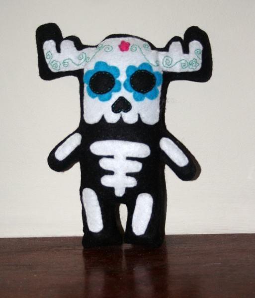 Day of the Dead Moose. By Angelica Pelati, from our 'Come Out and Play' exhibition.
