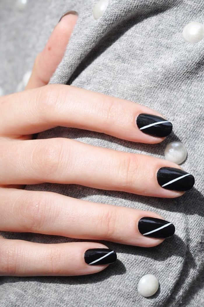 We took to Instgram to find the most eye-catching black-and-white nail designs for your viewing (and painting) pleasure. Keep reading for 14 looks we love.