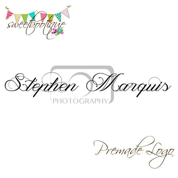 FULLY CUSTOMISABLE  Premade Logo  Stephen Marquis by SweetBootique