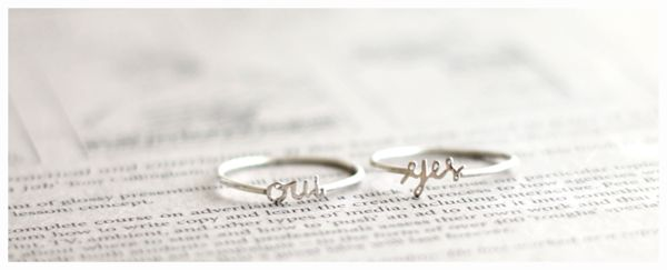 Initial Names Ring : Silver Promo
