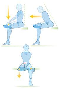 Estiramiento de los músculos piriforme
