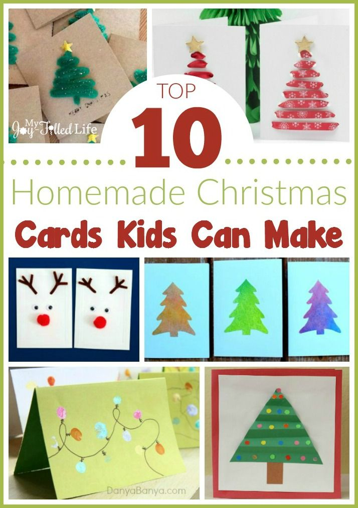 Homemade Christmas Card Ideas For Kids To Make Part - 48: Top 10 Homemade Christmas Cards Kids Can Make