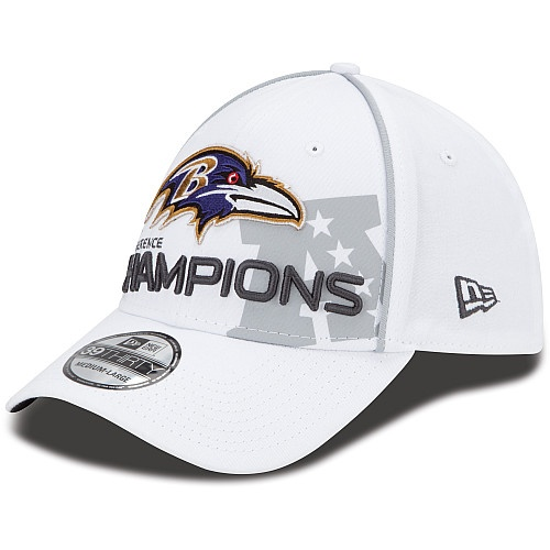 Youth New Era Baltimore Ravens 2012 AFC Conference Champions Trophy Collection 39THIRTY® Structured Flex Hat - NFLShop.com