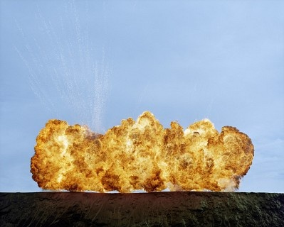 The Big Bang by Auckland Photographer Geoffrey H. Short ... large explosions at Bethells beach