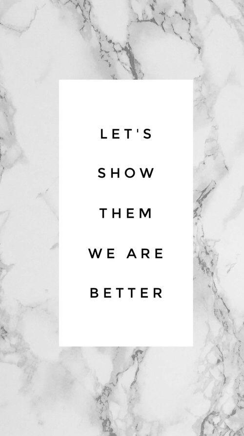 """""""Vamos mostrar a eles que somos melhores""""  Interprete de sua maneira.."""