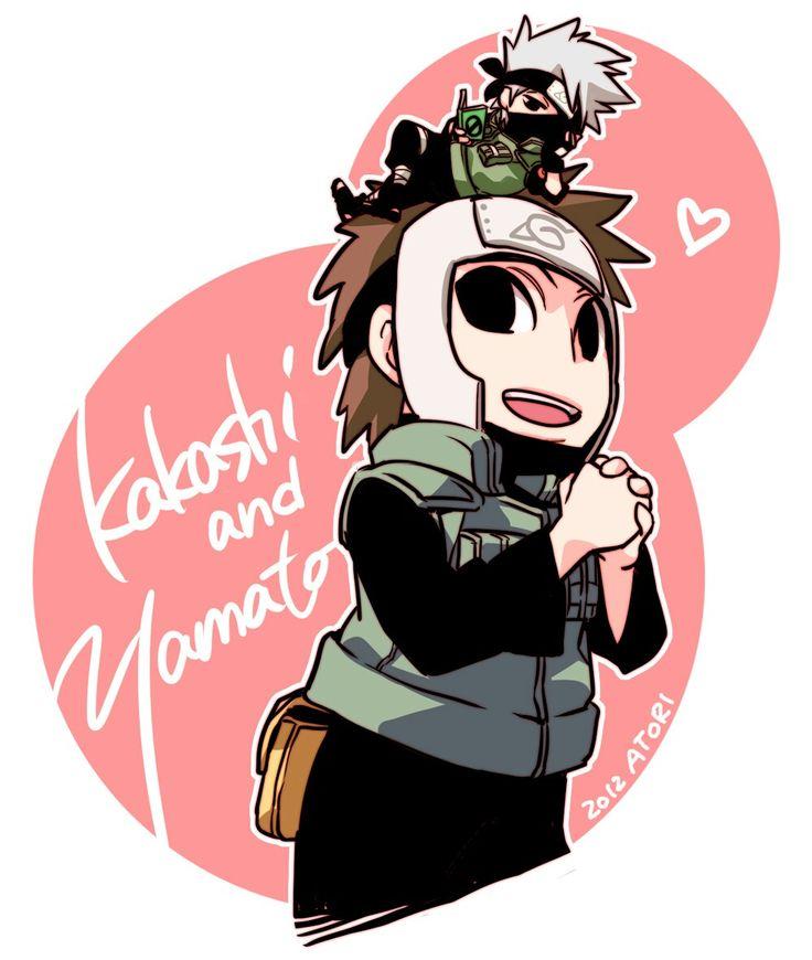 Kakashi and Yamato in Naruto SD style by atori-x on deviantart