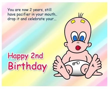 2nd Birthday Image Wishes. Happy Birthday Quote Image for Second