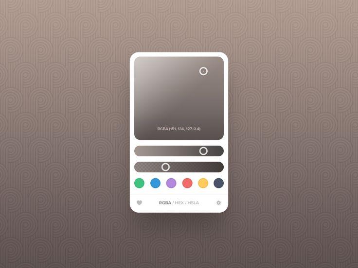Color Picker - Day 60 #dailyui by Sergiu Radu