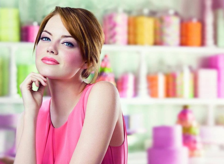 Emma Stone for ColorBurst Lip Butter