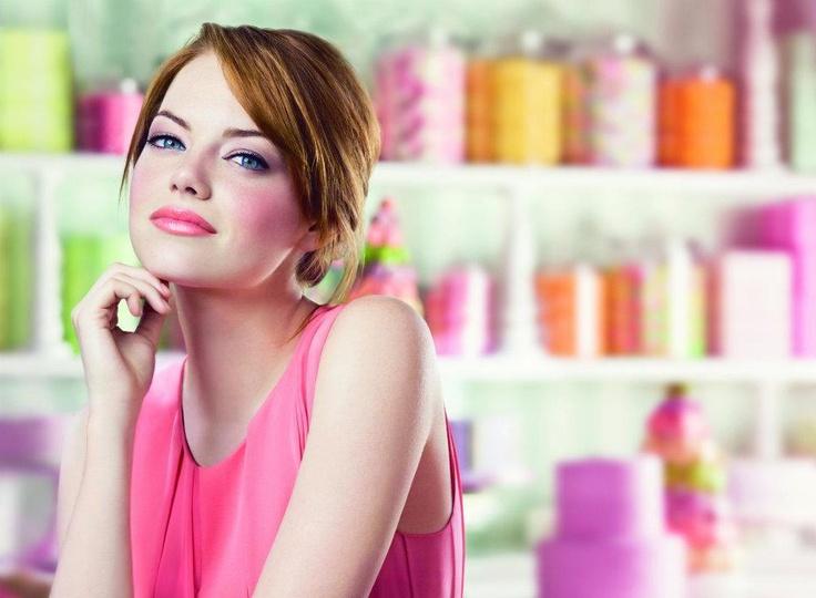 Emma Stone for ColorBurst Lip Butter