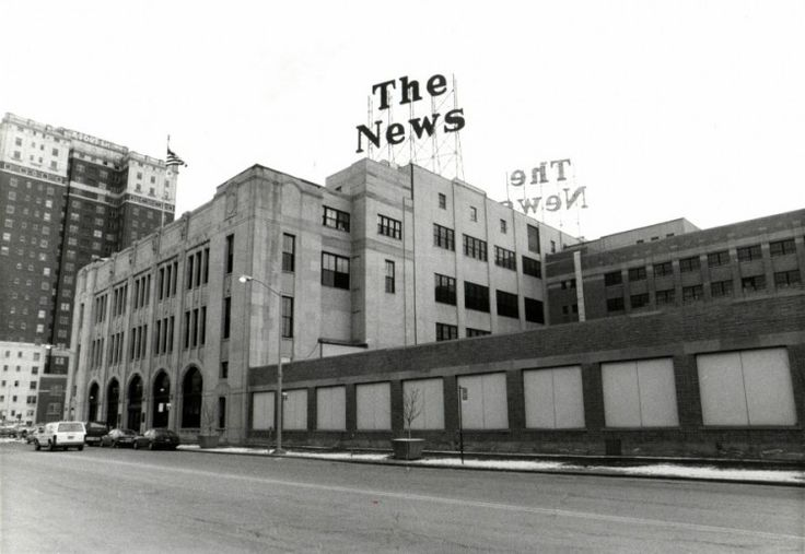 The Detriot News Building in the early 1990s
