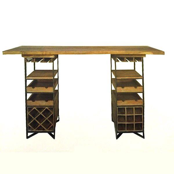 Les 11 meilleures images propos de mobilier bar sur for Table bar bois massif