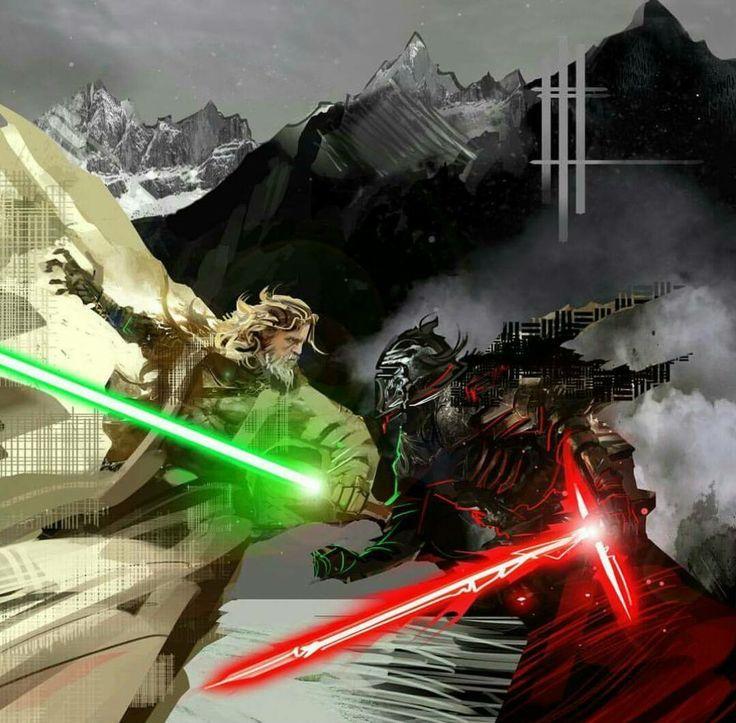 Kylo Ren vs Master Luke