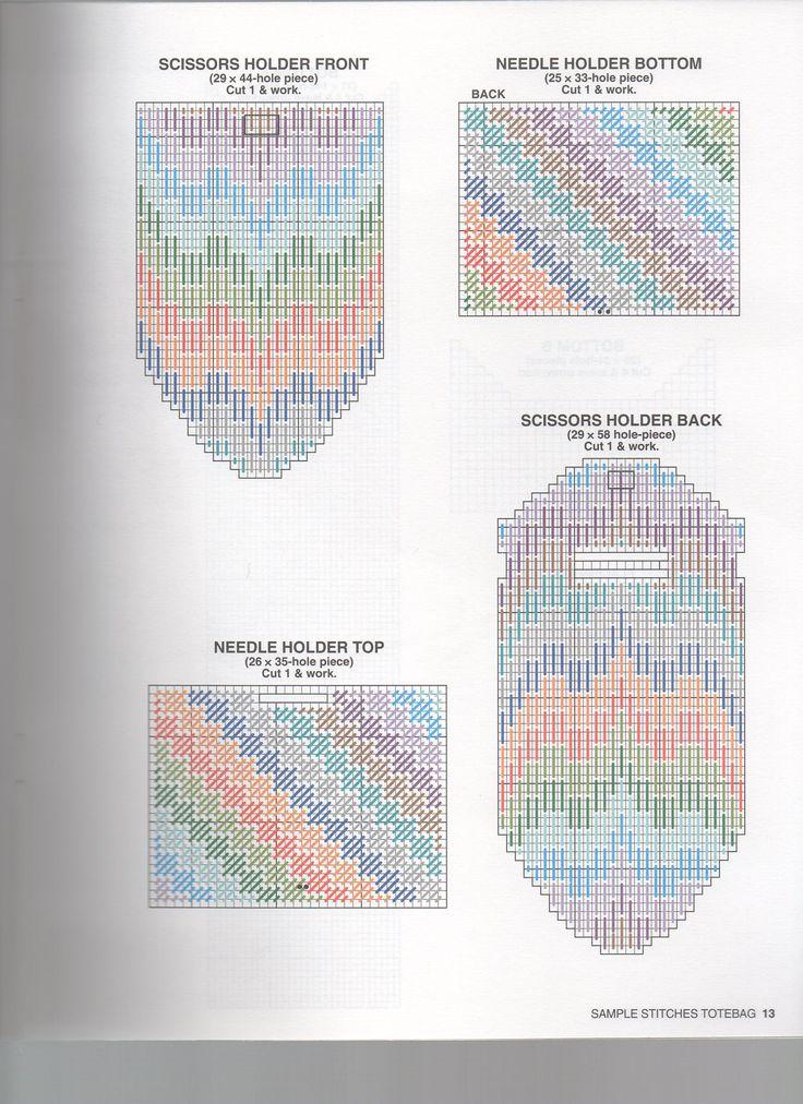 Borduren op Plastic Canvas: Voorbeelden, Ideeën, Patronen *Embroidery: Examples, Pattern ~DIY Boodschappentas 10/10~