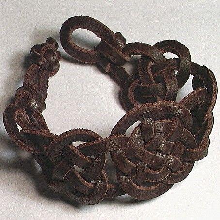 Irish Celtic Knot leather bracelet