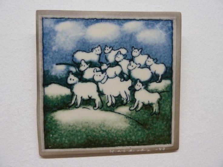 Arabia Finland Heljä Liukko-Sundström Wall plate SHEEP #Arabia