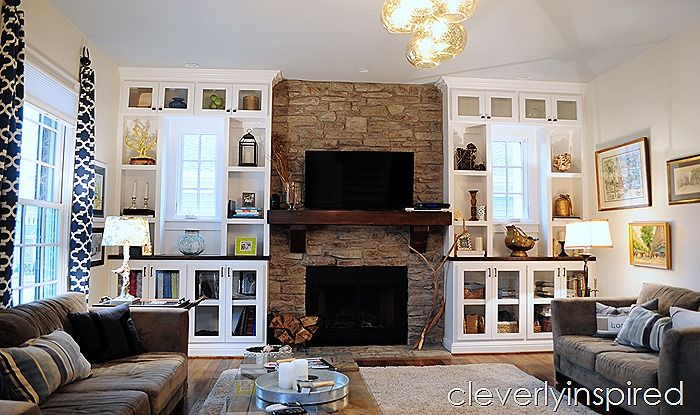 Our Home Photos - Cleverly Inspired | INSPIRE MY ~ LIVING ROOM | Pinterest | White cabinets ...