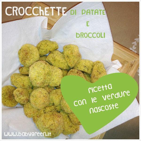 Ricette con le verdure nascoste: crocchette di patate e broccoli al forno