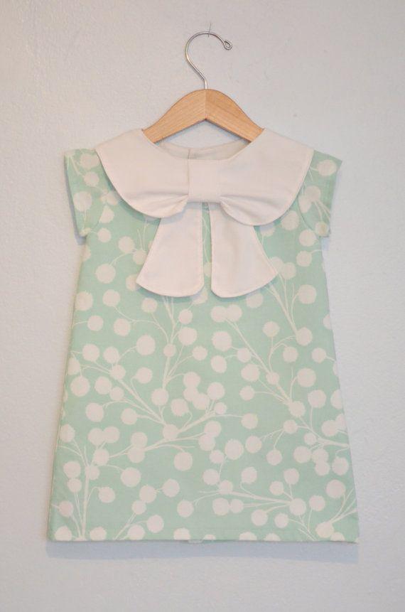 Big Collar Bow Dress by EmsyandCo on Etsy, $60.00