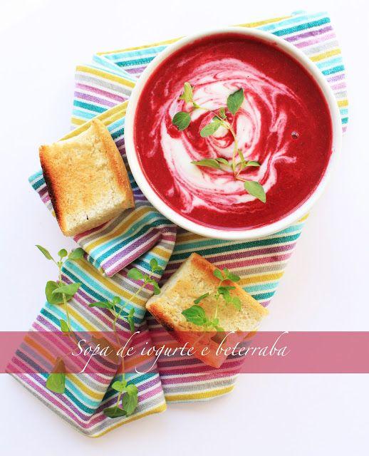 Sopa de beterraba e iogurte