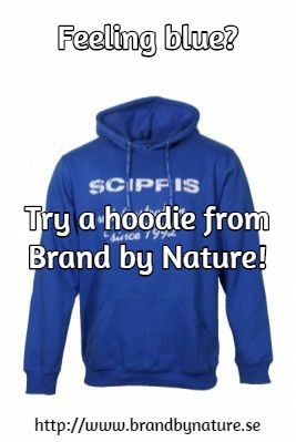 Feeling blue? / Try a hoodie from Brand by Nature!