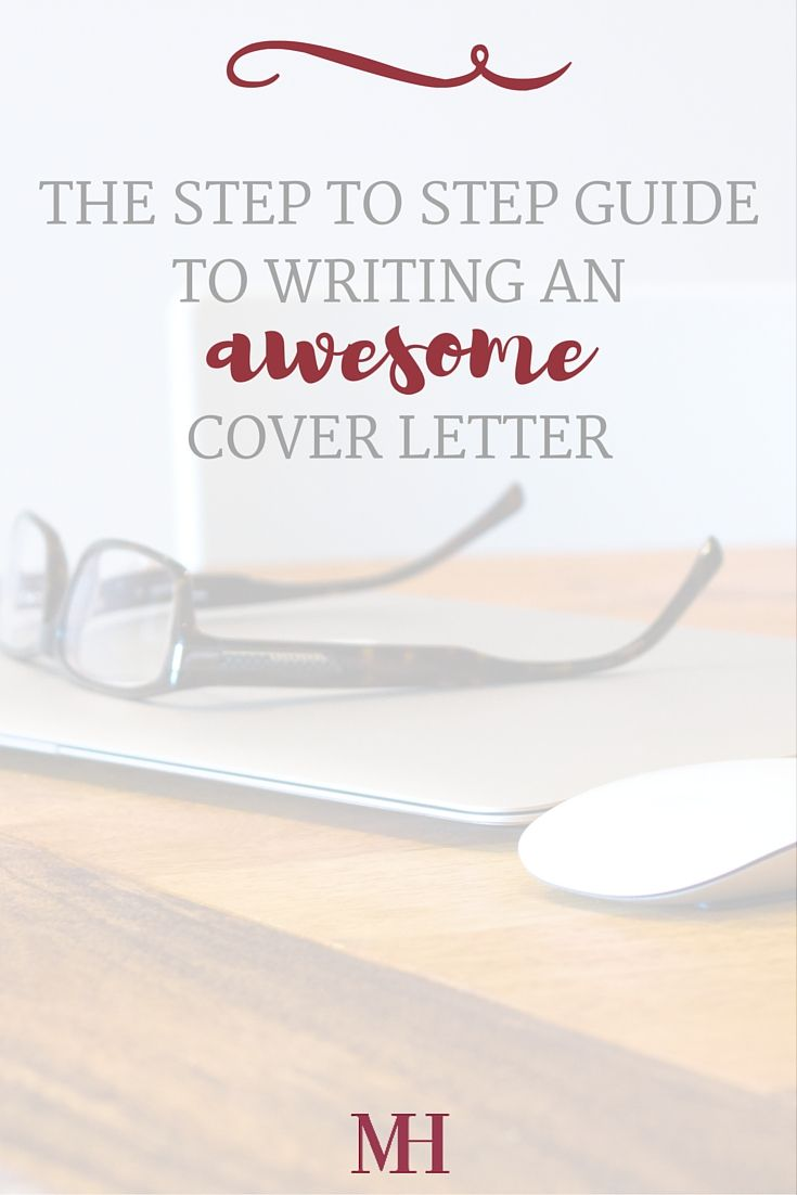 how to write a cover letter step by step