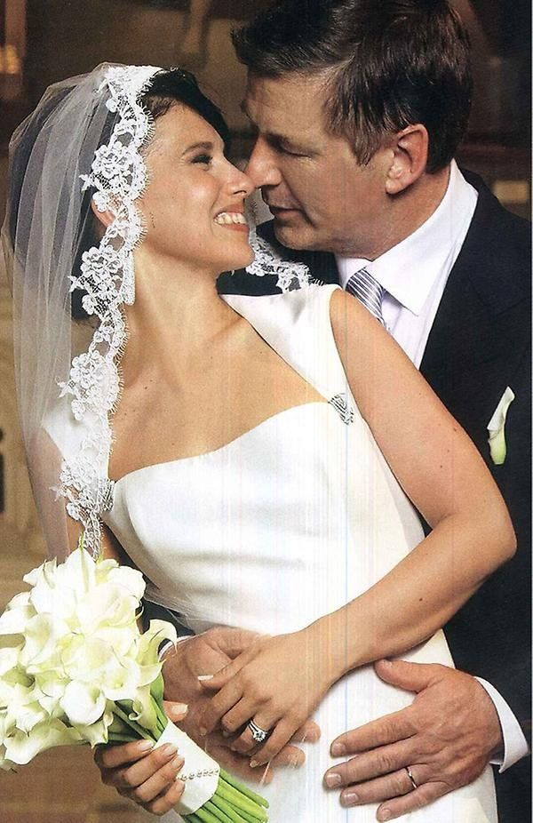 Alec Baldwin and his bride, Hilaria Thomas, made it official in NYC in June 2012. #celebrity #wedding