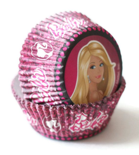 24 Barbie Cupcake Liners Wilton Pink Baking by LuxePartySupply