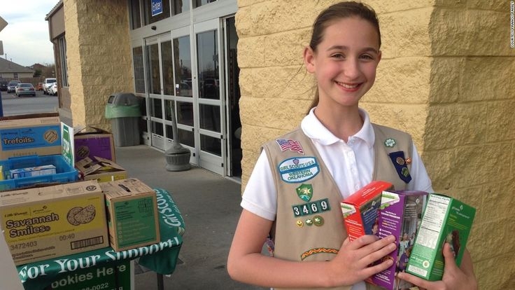 15 year-old girl scout Katie Francis knows a thing or two about the art of the sell. She's smashed all previous cookie selling records, selling over 100,000 boxes.